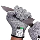 Gant Anti Coupure Gants de Travail Protection de Niveau 5 et Certifié EN388 Gants Jardinage Gants Résistants Aux Coupures Pour L'écaillage D'huîtres, Le Soudage