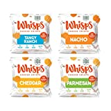 Whisps Tangy Ranch, Nacho, Cheddar, & Parmesan Cheese Crisps Variety Pack | Back to School Snack, Gluten Free, Keto Snack, Sugar Free, Low Carb, High Protein | 3 Bags of Each, 0.63oz (12 pack)