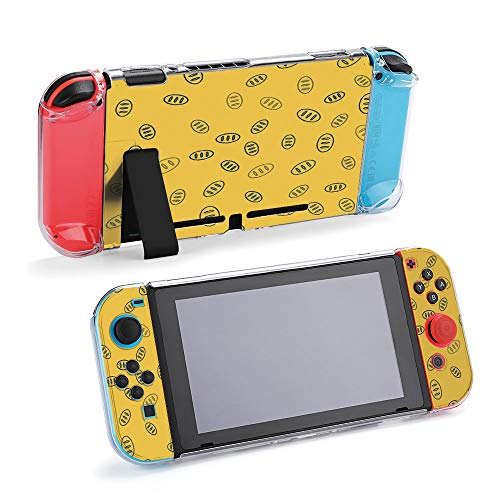 SUPNON Blue Line Bread Loaf Icon Isolated Seamless Protective Case Compatible with Nintendo Switch Soft Slim Grip Cover Shell for Console & Joy-Con with Screen Protector, Thumb Grips Design36841
