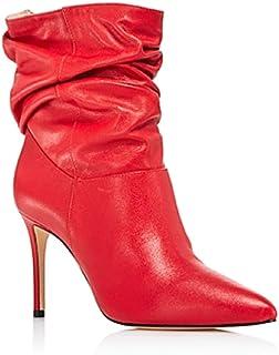 SCHUTZ Women's Sydnee Leather High-Heel Booties Club Red Size 10M