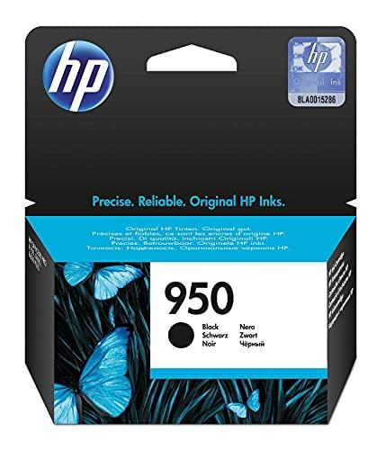 HP 950 CN049AE, Negro, Cartucho de Tinta Original, de 1.000 páginas, para impresoras HP Officejet Pro serie 8600, 8100, 251dw y 276sw