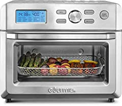 """LARGE CAPACITY: Fits an entire 12"""" pizza or 6 slices of toast! HEALTHY EATING: Targets food with fast, super-heated air ensuring food gets golden on the outside and moist inside with little to no oil 16 COOKING PRESETS: Cook, bake, dehydrate, air-fry..."""