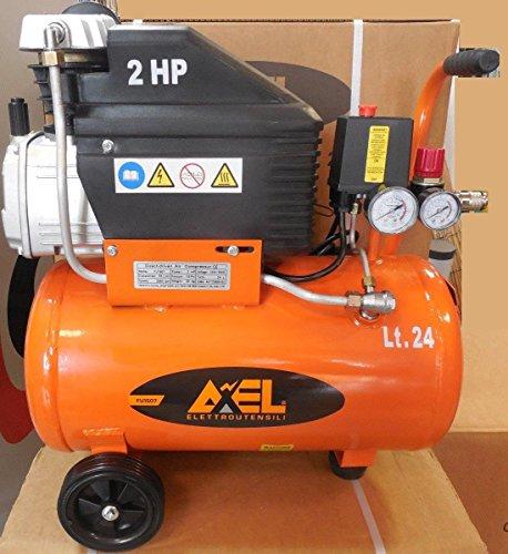 Compressore aria 24 litri coassiale lubrificato 2 Hp 8bar FU1507 AXEL