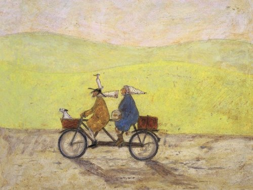 Sam Toft Pyramid International Grand Day out - Lienzo (60 x 80 cm), diseño de Ciclistas