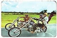 【eiwasailsors】 Easy Ride 映画ポスター イージーライダー オートバイ バイク  メタルサイン  金属 TIN SIGN お部屋 お店 壁飾り インテリア アメリカ雑貨 アメリカンブリキ看板 レトロ調  20x30cm eiwasailsors