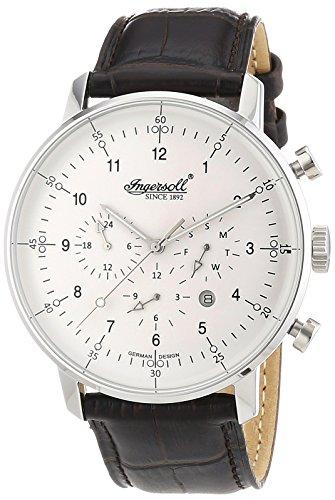 Ingersoll Orologio Cronografo Automatico Uomo con Cinturino in Pelle IN2816WH