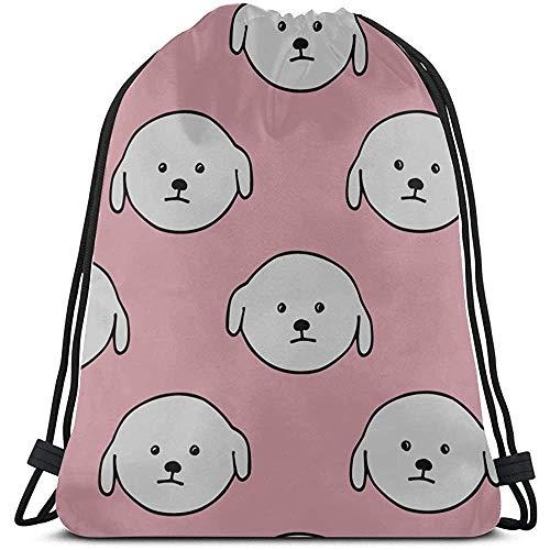 Bouia Haarkleurige kleine dieren huisdier beer hond trekkoord zakken mannen polyester meisjes trekkoord rugzak zakken voor fitnessstudio reizen
