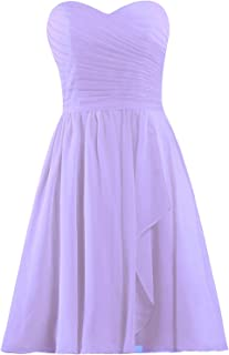 99449107452 ANTS Women s Sweetheart Short Bridesmaid Dresses Chiffon Wedding Party Dress