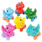 The Dreidel Company Dinosaur Wind-Up Toys, Birthday Party Favors, Novelty and Gag Gifts, 3.25