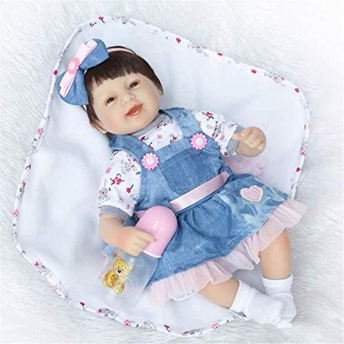 Juguetes 42 cm Reborn Baby Dolls, Pretty Soft Silicone Vinyl Real Life Juguetes para bebés recién Nacidos Hechos a Mano Reborn Toddler Dolls, para niños Cumpleaños