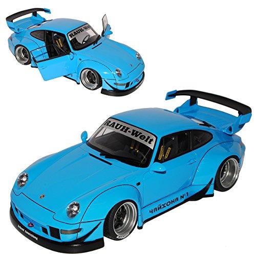 AUTOart Porsche 911 993 Carrera Coupe RWB Coupe Blau Rauh-Welt 1993-1998 78152 1/18 Modell Auto