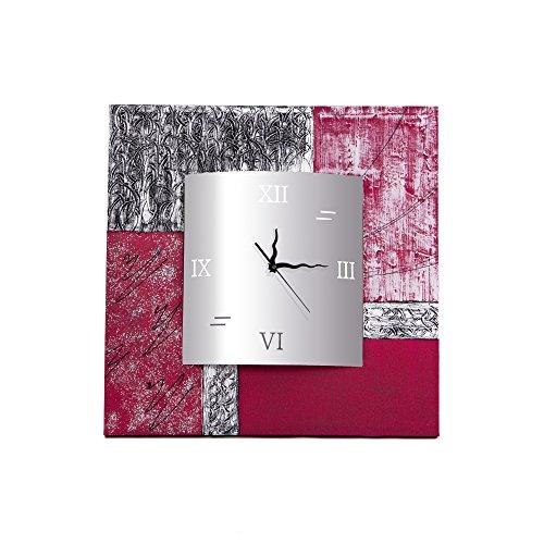 Lohoart R-132-1 - Reloj sobre Lienzo Pintado Artesanal, Reloj de Pared Rectangular,...