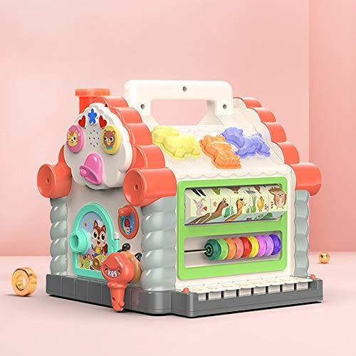 Juguetes interactivos de cubo de actividad para bebés de 0-3 años, juegos cognitivos de combinación geométrica, bloques de construcción para niños, juguetes educativos de educación temprana, con músic