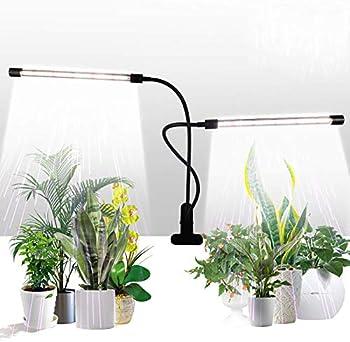 GHodec Sunlight White 50W 84 LEDs Dual Head Clip Plant Grow Lights