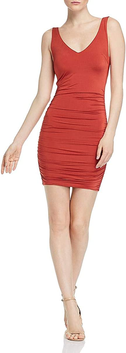 Tiger Mist Womens Stephanie Ruched Sleeveless Cocktail Dress
