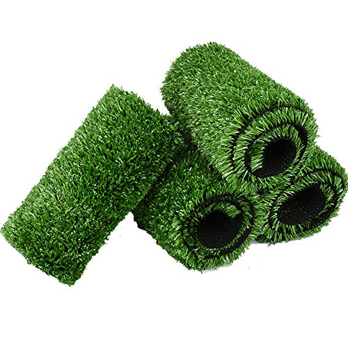 Artificial Grass Turf,Synthetic Grass with Drainage Holes Lush & Hard Pet Turf 20mm Grass Rug Fake Turf for Indoor Outdoor Decor-Green 200x750cm(79x295inch)