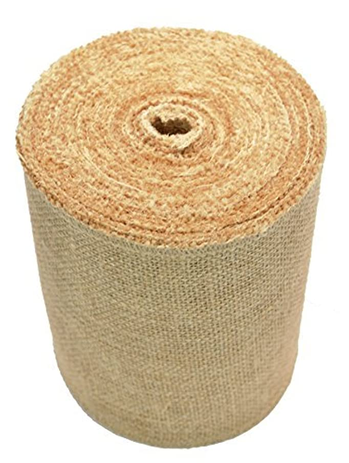 Firefly Craft Burlap Ribbon NO FRAY Fabric, 6 Inches by 20 yards