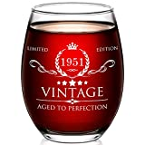 70th Birthday Gifts for Women and Men - 15oz Wine Glass - 70th Birthday Decorations for Women - 70th Anniversary Ideas for Her, Mom, Dad, Husband, Wife - 70 Years