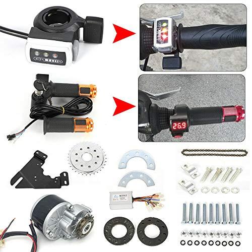 Kaibrite - Motor de cepillo eléctrico para bicicleta eléctrica de 24 V, 250 W, motor de cepillo con rueda libre, para menos de 36 mm (juego de rotación del pulgar)