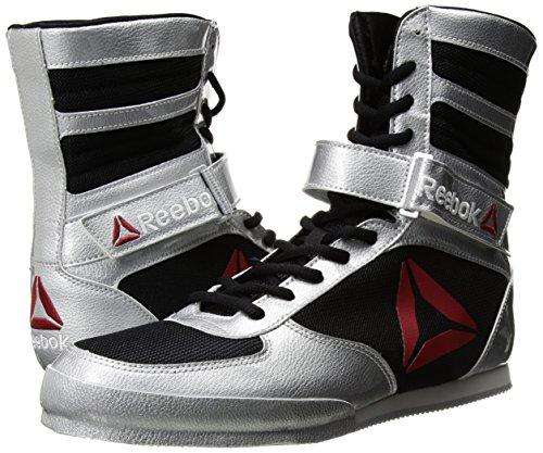Reebok Men's Boot Boxing Shoe, Buck-Delta-Black/Black/White, 9 M US