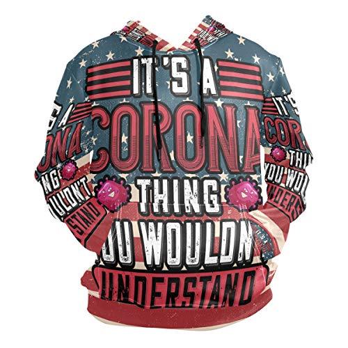 Franzibla It's A Coronavirus Thing Men's Pullover Hooded Sweatshirt