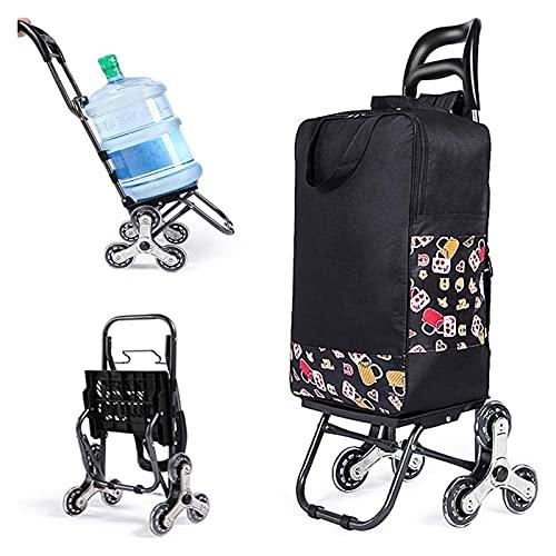 AOZLOVEC Shopping Trolley Lightweight Folding Shopping...