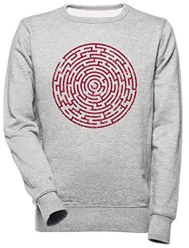 Labyrint Distressed - Labyrint Unisex Mannen Dames Trui Sweatshirt Unisex Men's Women's Jumper