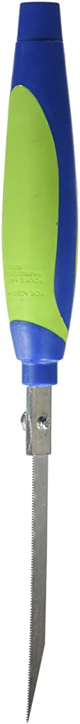 School Specialty Stainless Steel Blade/Plastic Foam Saber Saw, 7 X 1-1/8 in, Green/Blue