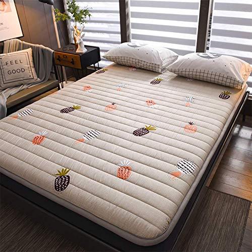 Japanese Floor Futon Mattress, Multi-purpose Tatami Mat Folding Mat Portable Folding Mattress Roll Up Mat for Dorm I 180x200cm (71x79 inch)