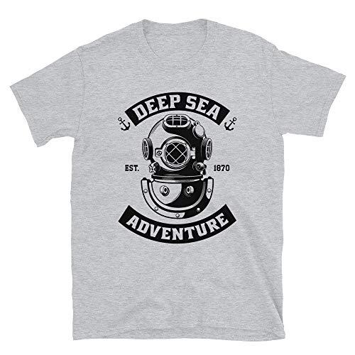 T-shirt de plongée sous-marine Deep Sea Adventure Est. 1870 Jules Verne Voyage Under The Sea Navy - Noir - Large