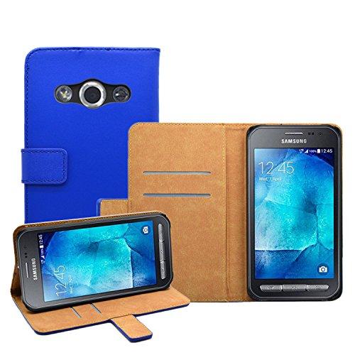 Membrane - Nero Portafoglio Custodia per Samsung Galaxy Xcover 3 (SM-G388F) - Wallet Flip Case Cover