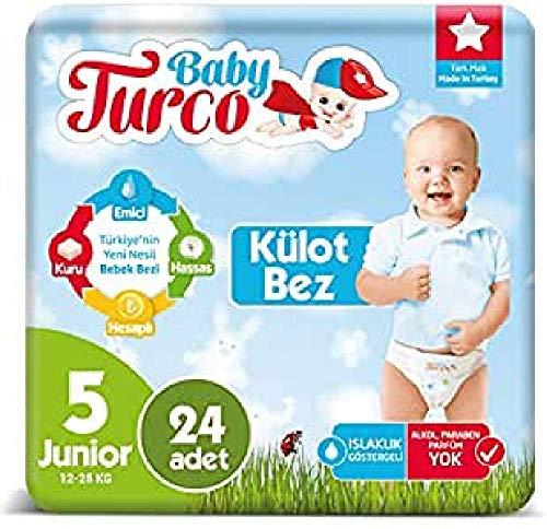 Baby Turco BBTR100008 Lot de 30 couches lavables pour enfant Ultra Confort et protection Junior (11-25 kg)