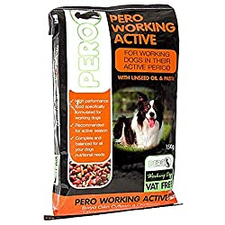 Pero Working Dog Active 15kg Makes a loverly gift idea Pero Working Dog Active Formula is a new product made from ingredients , Good quality item including linseed oil and pasta , which give a working dog maximum energy