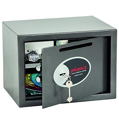 Phoenix SS0802KD Vela Deposit Home & Office Safe met sleutelslot (klein)