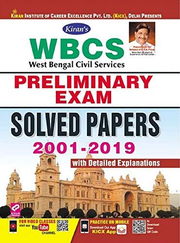 Kiran WBCS Preliminary Exam Solved Papers 2001-2019-English(2749)