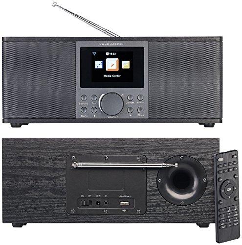 VR-Radio Internetradios: Stereo-Internetradio mit DAB+, FM, Bluetooth, Wecker, 32 Watt, schwarz (DAB Internet Radio)