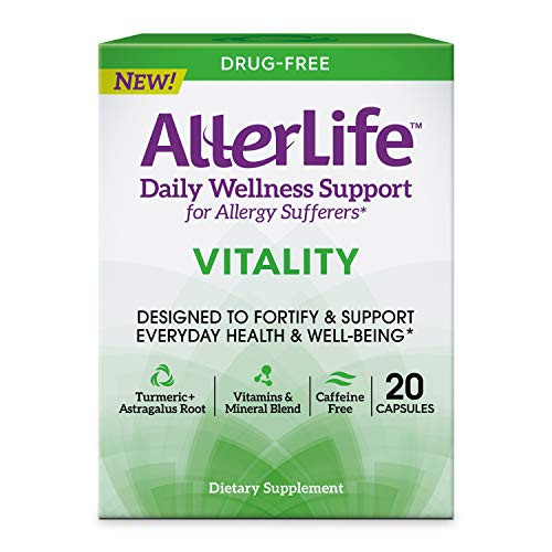 AllerLife Vitality Capsules, Daily Dietary Supplements for Everyday Health & Well-Being, 20-Count