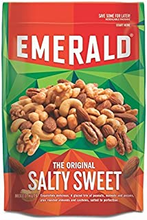 Emerald Nuts 5oz - 6oz Resealable Bag (Pack of 4) (Original Salty Sweet Mixed Nuts 5.5oz)