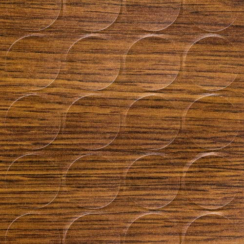 GleitGut Selbstklebende Abdeckkappen für Möbel - Durchmesser 14 mm - 25 Stück - Schrauben-Abdeckungen (Eiche rustikal)