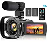 Video Camera Camcorder for YouTube, FHD 1080P 30FPS 24MP Digital Vlogging Camera 16X...