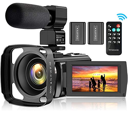 powerful Video camera YouTube camcorder, FHD 1080P 30FPS 24MP 16x digital zoom Digital video camera for recording …