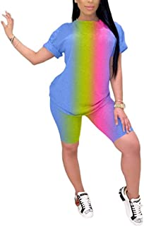 Womens Lightweight 2 Piece Sports Outfit Tracksuit Shirt Shorts Jogger Sportswear Set Activewear S-3XL