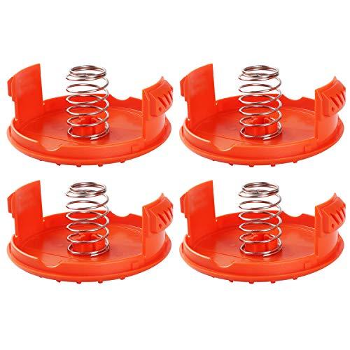 Gosear 4PCS Spool Caps + 4PCS Molle Parti di Ricambio Accessori Compatibili con I Trimmer Black + Decker RC-100-P
