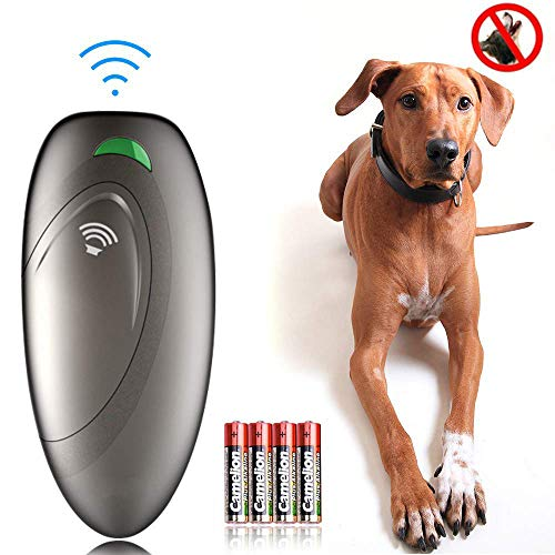 Ylinova Ultraschall Hunde Repeller,Ultraschall Hundetrainer Handheld Anti Bellen Gerät Hunde Trainingsgerät Bellkontrolle Im Freien 100{f82af680733d7152ff31ace9c34e07d8a18dcf1a6bc436a22560b8e6681b3eec} sanft & sicher (Grau)