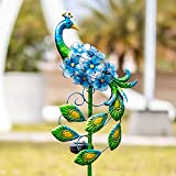 Afirst Solar Peacock Lights - Outdoor Solar Garden Stakes Metal Decor Lights, Waterproof LED Decorative Lights for Pathway, Yard
