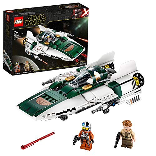 LEGO 75248, Star Wars der Aufstieg Skywalkers Widerstands A-Wing Starfighter, Bauset