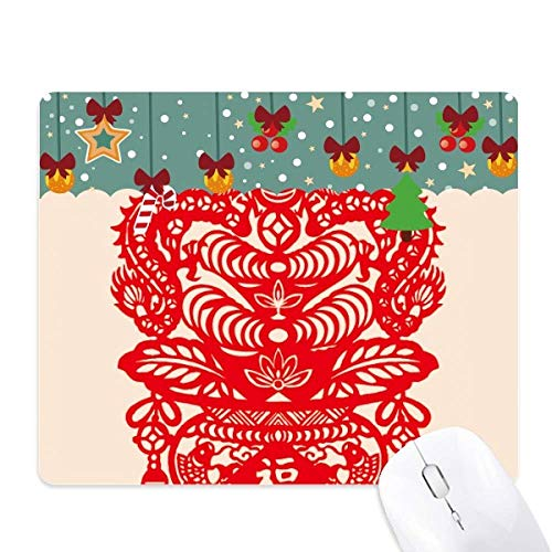 China Rode Draak Vis Blad Patroon Muis Pad Game Kantoor Mat Kerstmis Rubber Pad
