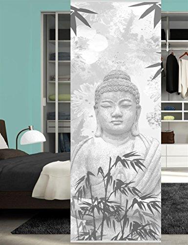 HOME WOHNIDEEN Raumteiler Dekostoff Digitaldruck Pattaya 245 x 90 cm Grau