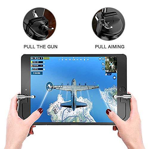leegoal Mobile Game Controller für iPad, [Upgrade Version] Sensitive Schießen und Aim Fire Ziel Button für PUBG/Knives Out/Rules of Survival/L1R1, Handy Gamepad für 4,5-12,9 Zoll Tablet & Smartphone