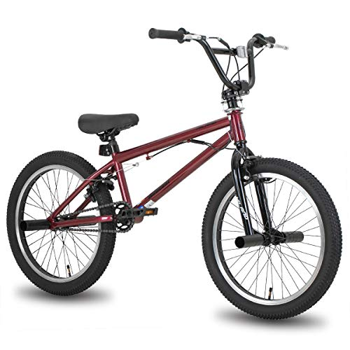 Hiland 20 Inch Kids Bike for Boys BMX Freestyle Bicycle Red